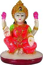 IBA Indianbeautifulart Lord Lakshmi HandcraftedResin Statue 10 cm Idol for Car DashboardFigurines Home Décor
