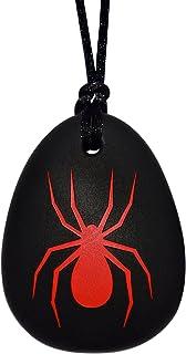 Munchables Spider Cheek گردنبند برای پسران - جواهرات Chewable Sensor (قرمز)