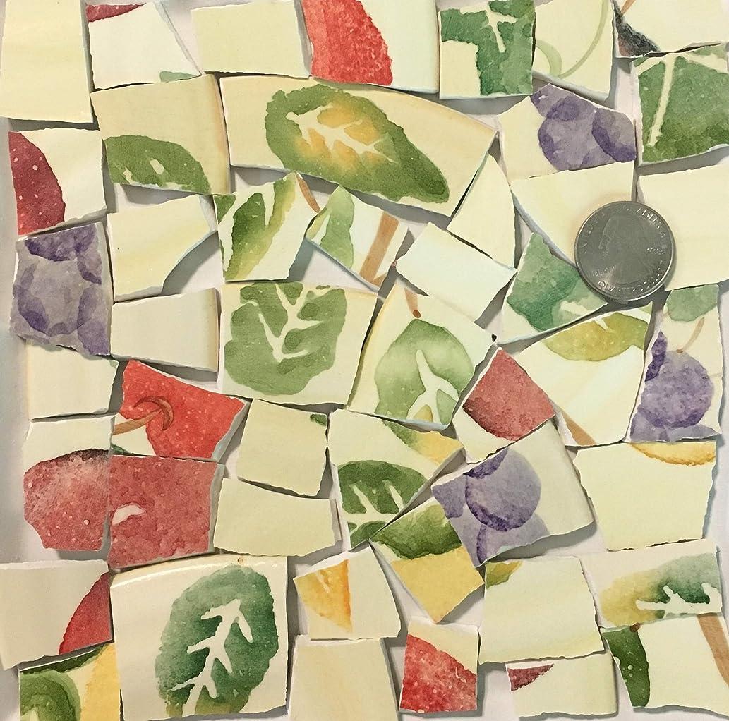 Mosaic Art & Crafts Supply ~ Yellow Green Orange Fruit Tiles (B910)