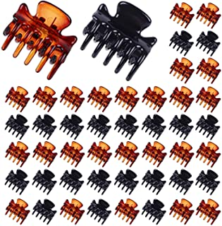 Lomodo 48 Pack Mini Hair Clips 3 cm Hair Claws Clips Plastic Hair Pins Clamps Non Slip Tiny Jaw Clips For Girls and Women ...