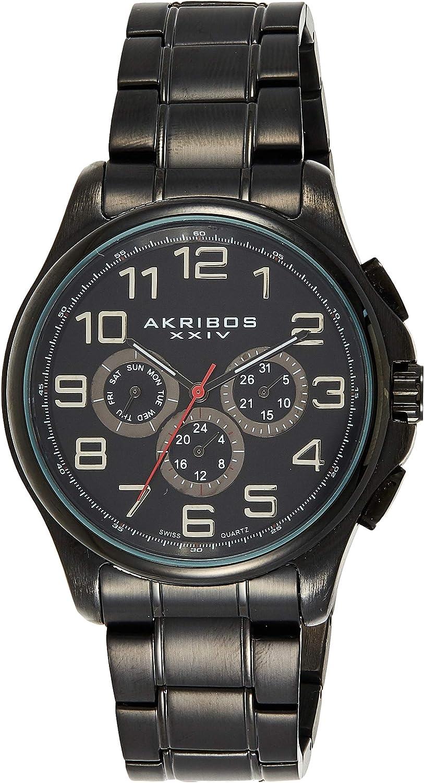 Akribos XXIV trust Men's Multifunction Watch Quartz Subdials New products world's highest quality popular - 3 Swiss