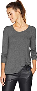 Amazon Brand - Daily Ritual Women's Jersey Long-Sleeve Scoop-Neck Swing Shirt