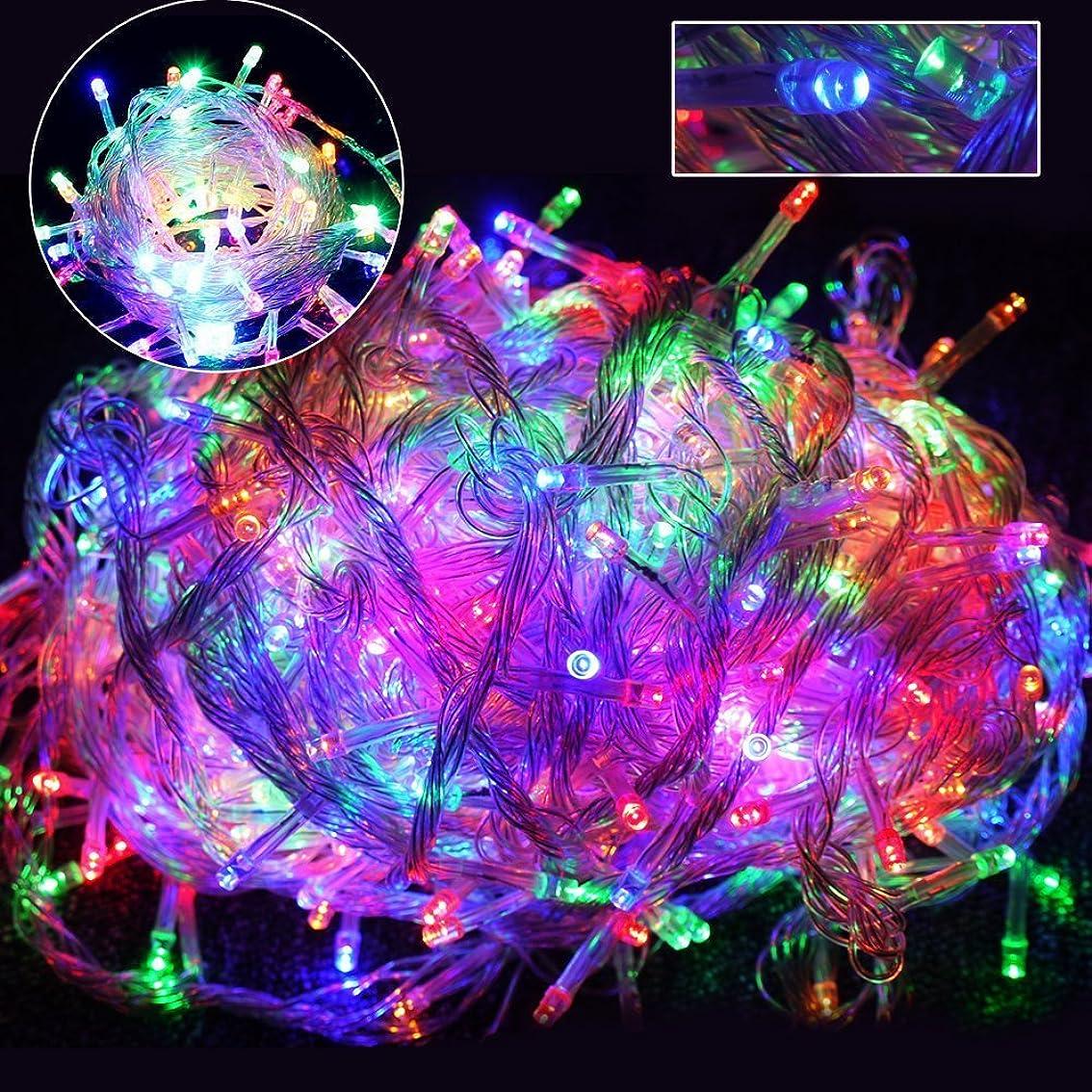 撃退する冒険者限界GOODGOODS LED イルミネーション ライト クリスマス 飾り LED電飾 ミックスカラ- 500球30m×2個セット メモリー機能搭載 防水 LD66 RGB