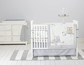Cuddletime Starry Night Owls 6 Piece Bedding Collection, Gray