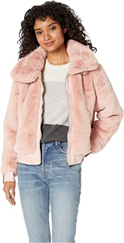 Faux Fur Jacket in Internet Hobo