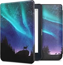 kwmobile Case Compatible with Kobo Nia - PU e-Reader Cover - Aurora Turquoise/Blue/Black