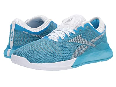 Reebok Nano 9 (White/Bright Cyan/Silver Metallic) Women