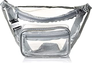 Clear Fanny Pack Stadium Security Approved Waist Bag for Events, Games, and Concerts Transparent (Gray)