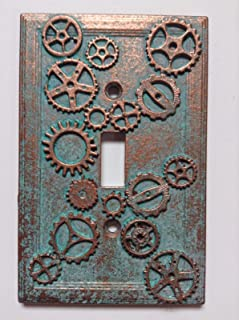 3dRose lsp/_167128/_6 Steam Punk Gears In Bronze Realistic Look Fun Art Outlet Cover