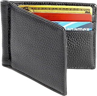 Billetera de Piel con Money Clip para Hombre / Cartera de Pi