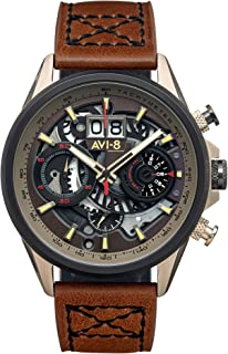 Hawker Harrier Mens Analog Japanese Quartz Watch with Leather Bracelet AV-4065-06