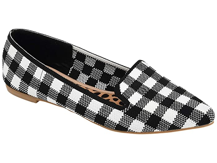 Retro Vintage Flats and Low Heel Shoes Journee Collection Comfort Foam Vickie Flat Plaid Womens Shoes $49.99 AT vintagedancer.com