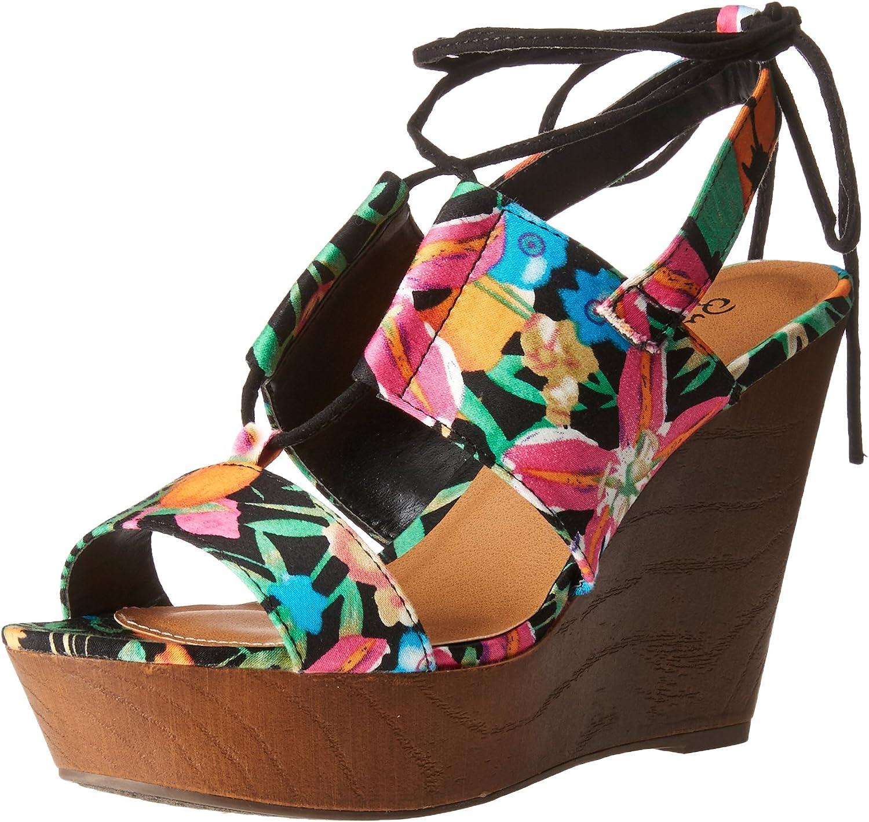 Qupid Woherrar Gimmick -30A Wedge Sandal Sandal Sandal  het försäljning