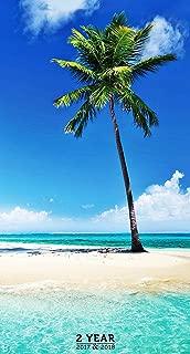2017-2018 Tropical Beaches 2 Year Pocket Calendar