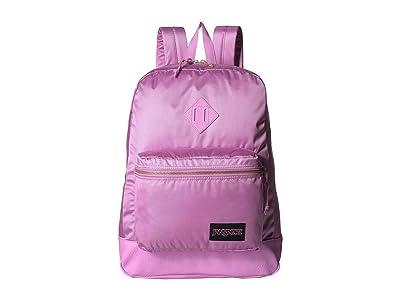 JanSport Super FX (Lavender Orchid Gold Premium Poly) Backpack Bags