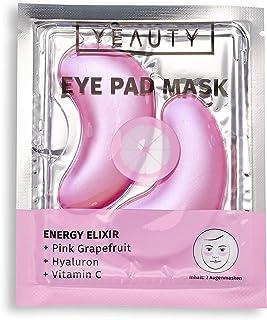 YEAUTY Energy Elixir Eye Pad Mask – fuktgivande ögonkuddar med rosa grapefrukt, hyaluron och C-vitamin – 1 x 2 stycken