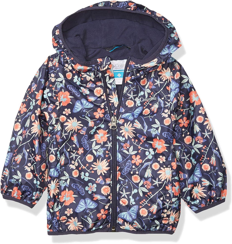 Water Repellent Columbia Youth Mini Pixel Grabber II Wind Jacket Fleece Lined