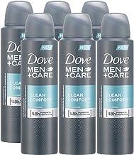 Dove Men + Care Clean Comfort Spray, International Version, 150ML (6 Pack)