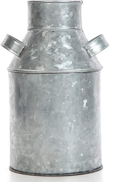 Hosley Galvanized Milk Can 9 75 High Ideal For Weddings Spa Flower Arrangements O3