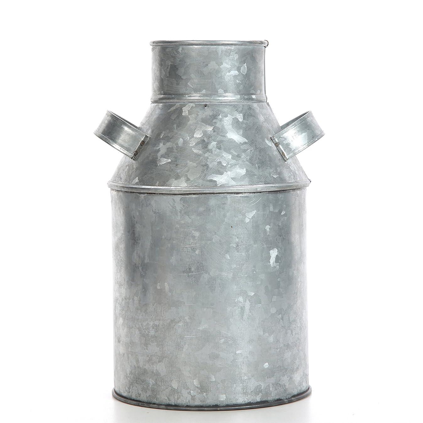 Hosley Galvanized Milk Can - 9.75