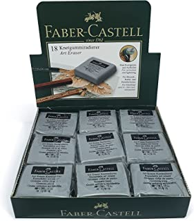 FABER-CASTELL KNEADABLE ART ERASER GREY BOX OF 18PC