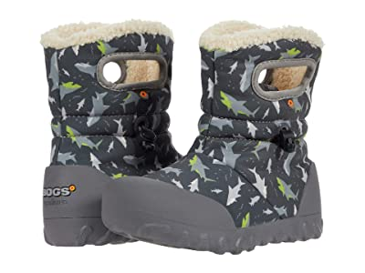 Bogs Kids B-Moc Sharks (Toddler/Little Kid) (Dark Gray Multi) Boy