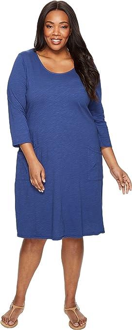 Karen Kane Plus Plus Size Three Quarter Sleeve A-Line Dress | Zappos.com