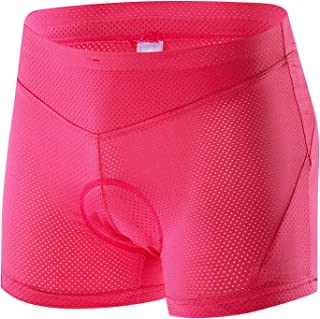 Cycling Underwear Shorts 3D Padded Gel Women's Bike Bicycle Undershorts Lightweight Breathable Quick Dry