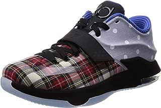 Nike Mens KD VII Ext Canvas QS Polka Dots & Plaid University Red/Black-White Fabric