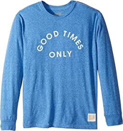 The Original Retro Brand Kids - Good Times Only Long Sleeve Tri-Blend Tee (Big Kids)