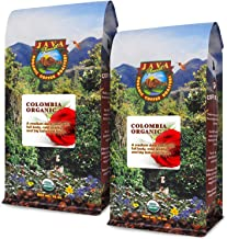 Java Planet - Colombian USDA Organic Coffee Beans, Rainforest Alliance, Low Acid, Medium Dark Roast, Whole Bean Coffee, Arabica Coffee, Gourmet Specialty Grade A - 2 1lb bags