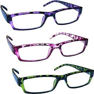 comprar comparacion The Reading Glasses Company Gafas De Lectura Púrpura Rosa Verde Ligero Cómodo Lectores Valor Pack 3 Hombres Mujeres Rrr32-...
