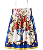 Dolce & Gabbana Kids - Caltagirone Vase Print Dress (Toddler/Little Kids)