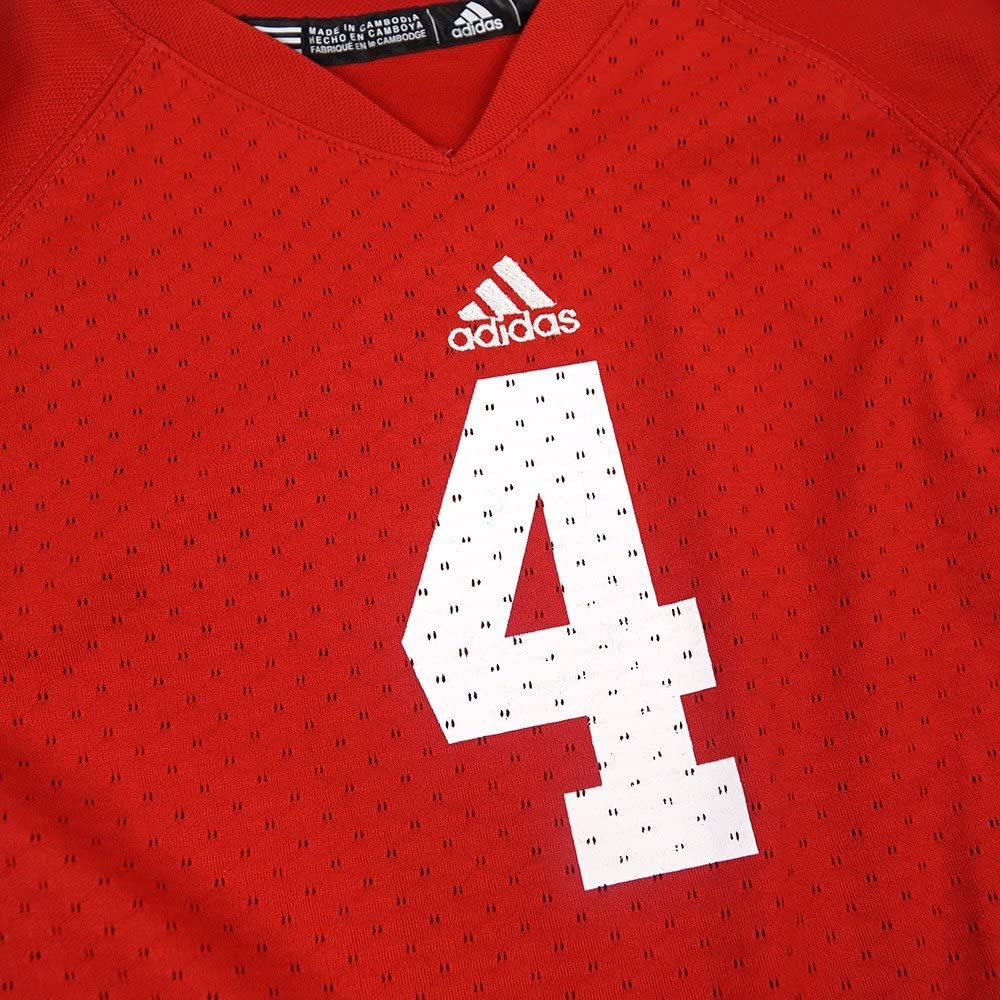 Amazon.com: adidas Wisconsin Badgers NCAA Red Official Home #4 ...