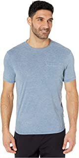 John Varvatos Star USA Men's Laurence SS Burnout Crew W RAW Edge and Pocket