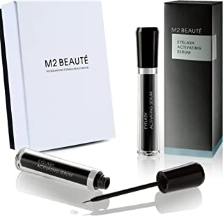 M2 BEAUTE Eyelash Activating Serum 5 Milliliter and M2 BEAUTE Box, Dermatologist Tested Product, Highest German Quality Professional Eyelash Serum for Growing Natural Lashes