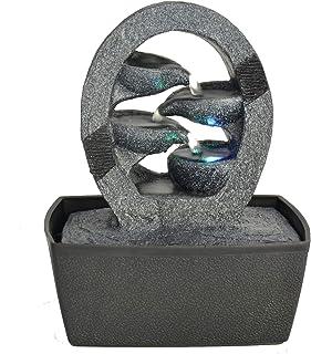 Zen'Light Cascade Fontaine d'Intérieur, Résine, Noir, Taille Unique