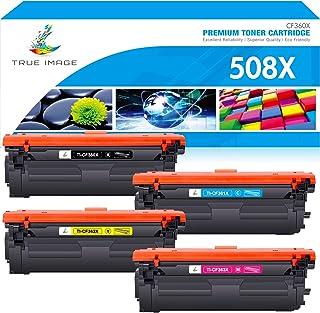 Best True Image Compatible Toner Cartridge Replacement for HP 508A 508X CF360X CF361X CF362X CF363X Color Laserjet Enterprise M553dn M577 M553X M553N M553 Printer Ink (Black Cyan Yellow Magenta, 4-Pack) Review