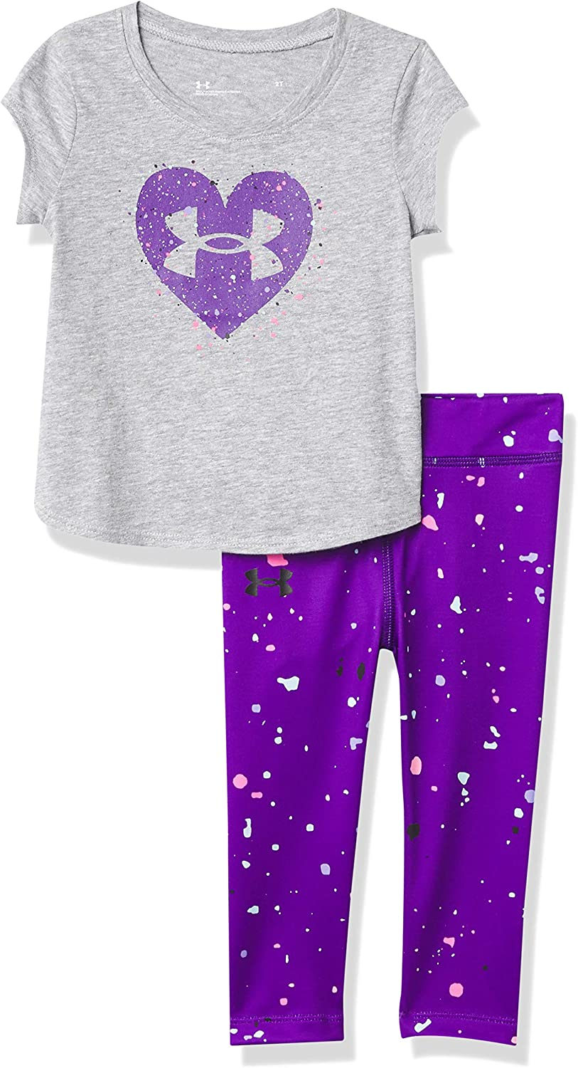 Under Sales of SALE items from new works Armour Baby Girls' Short Tee Set Capri SALENEW very popular Sleeve and