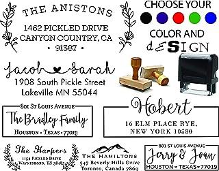 Personalized - Address Stamp - Customized Stamp - Self-Inking Return Address Mail 3 Lines Custom Address Stamper Wedding Invitation Stamp