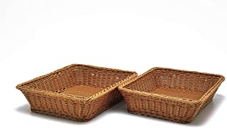 """2 Pc Set of Rectangular Baskets for Tabletop or Counter Display 