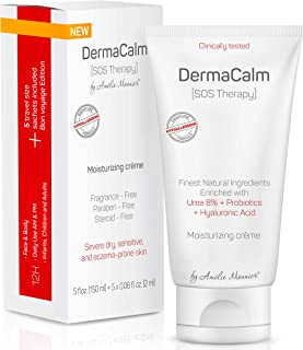 Best Clinically Tested Cream for Eczema, Dermatitis and Psoriasis Treatment - Urea 8%, Probiotics w/Best Natural Ingredients - Face & Body Lotion - Repairs Itchy, Severely Dry, Scaly Skin. Moisturizer Review