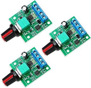 WayinTop 3pcs PWM Low Voltage Motor Speed Controller DC 1.8V 3V 5V 6V 12V 2A 1803BK 1803B Adjustable Driver Switch with Sp...