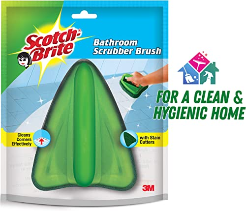 Scotch-Brite Bathroom Brush with abrasive scrubber for superior tile cleaning (Green) product image