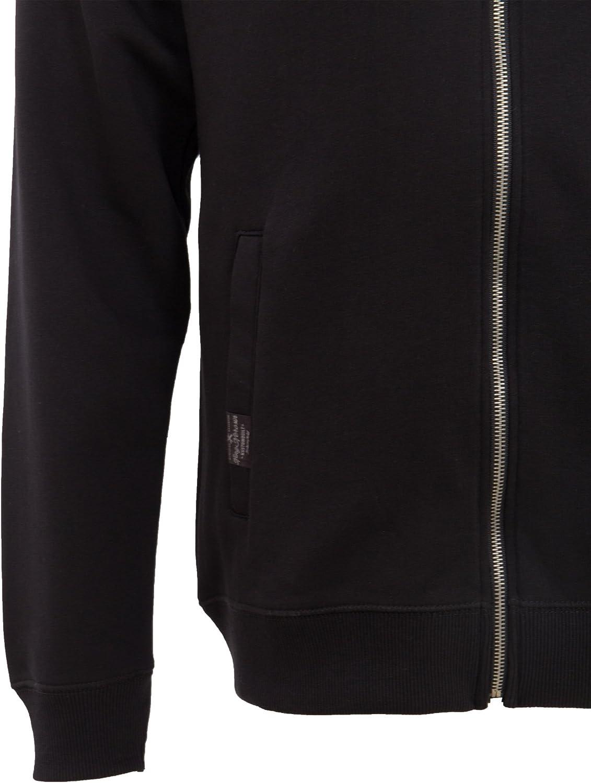 King Kerosene Logo Embroidery Men/´s Hooded Sweat Jacket Black