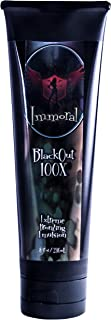 Immoral Tanning Lotion, BlackOut Extreme Dark Tanning Bronzing Emulsion, Streak Free Tattoo Safe Indoor/Outdoor Tanning Bed and Booth Bronzer Accelerator Intensifier, 8 Fluid Ounce