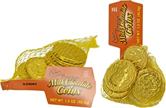 Set of 18 Palmer's Premium Milk Chocolate Coins - 2 Bags of Coins - Perfect Party Favor, Table Scatter, Easter Egg Filler,...