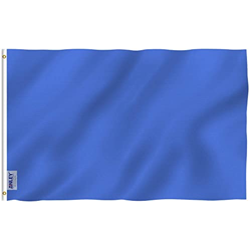 58e6d3880652 Anley Fly Breeze 3x5 Foot Solid Navy Blue Flag - Vivid Color and UV Fade  Resistant