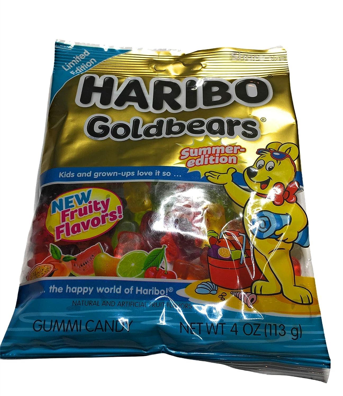3 Industry No. 1 pack- 4 oz Bag Haribo Edition Bears Gold Candy Kansas City Mall Gummy Summer