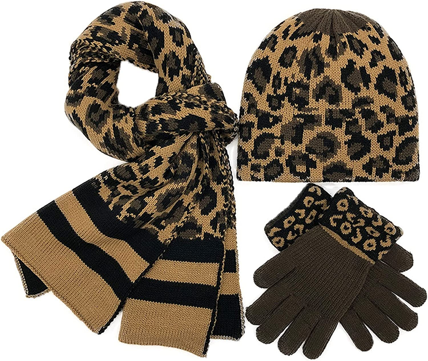 Winter Knit 2021 new Hat Gloves Scarf Knitted Pieces Set Fees free!! 3 Le